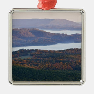 Foggy valleys and fall foliage in Ozark Christmas Ornament