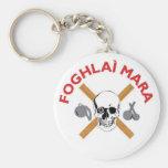Foghlai Mara Keychain, White Basic Round Button Key Ring