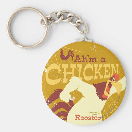 Foghorn Ah'm a chicken Basic Round Button Key Ring