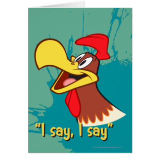 Foghorn Looking Up Card