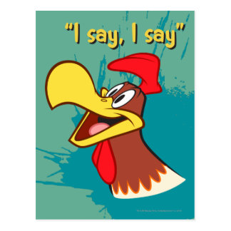 Foghorn Looking Up Postcard