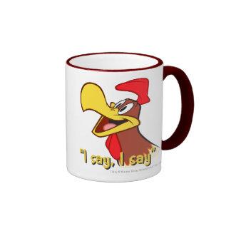 Foghorn Looking Up Ringer Mug
