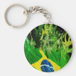 Fogo de Brasil Basic Round Button Key Ring
