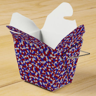 Foil Confetti Hearts,Patriotic-FAVOR BOX, take out Favour Box