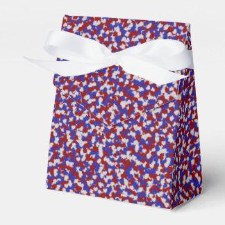 Foil Confetti Hearts,Patriotic-FAVOR BOX, tent Party Favour Boxes