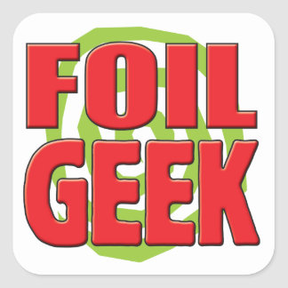 Foil Geek Square Sticker
