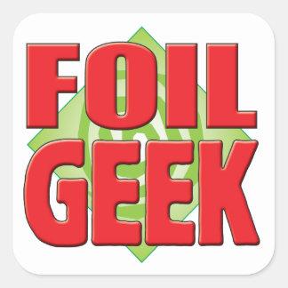 Foil Geek v2 Square Stickers