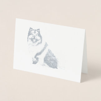 FOIL KEESHOND CARD