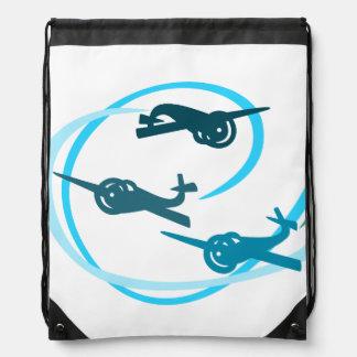 Fokker Air show blue planes Backpacks
