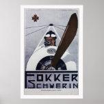 Fokker Schwerin WW1 Aviation Poster - large