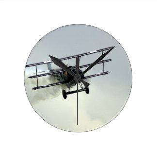 Fokker triplane round clock