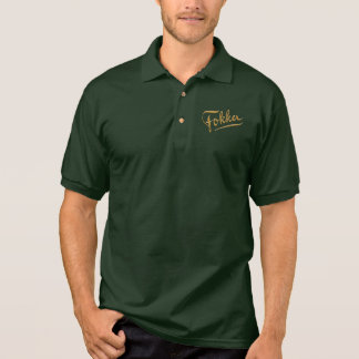 Fokker WW1 Logo Golf Shirt