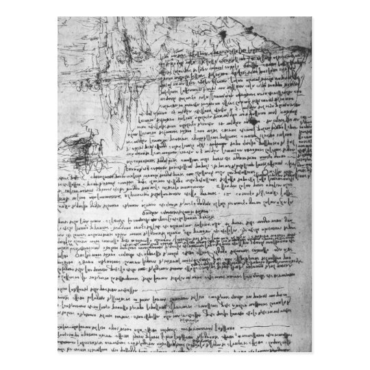 Fol.145v-b, page from Da Vinci's notebook Postcard