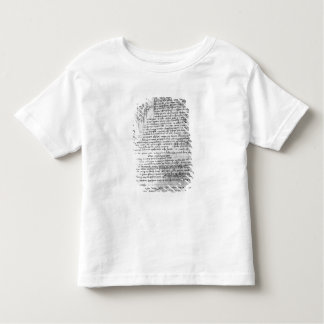 Fol.145v-b, page from Da Vinci's notebook Toddler T-Shirt