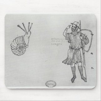 Fol.2 Snail and Hungarian soldier Mouse Mat
