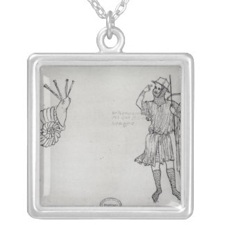 Fol.2 Snail and Hungarian soldier Silver Plated Necklace