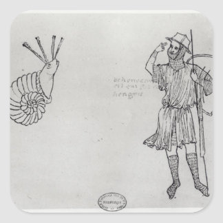 Fol.2 Snail and Hungarian soldier Square Sticker