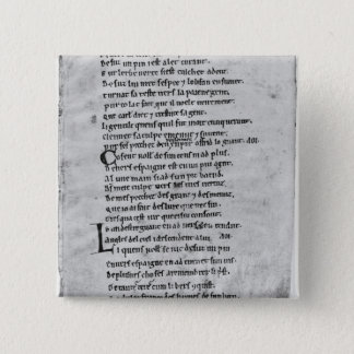 Fol.43 'The Song of Roland' 15 Cm Square Badge