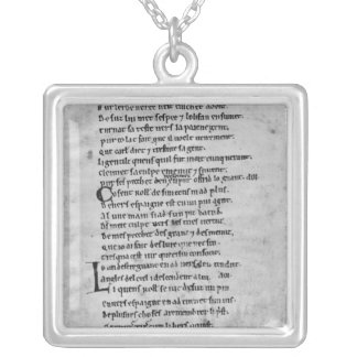 Fol.43 'The Song of Roland' Silver Plated Necklace