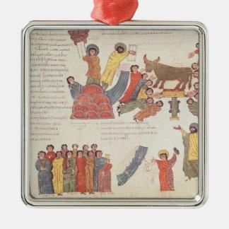 Fol.46r Adoration of the Golden Calf Christmas Ornament