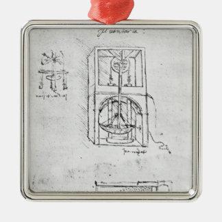 Fol. 54r from Paris Manuscript B, 1488-90 Christmas Ornament