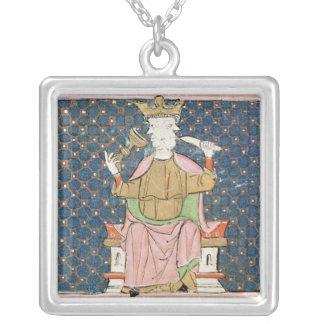 Fol.57v January: Janus Silver Plated Necklace