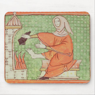 Fol.58r February: Warming by the Fire Mouse Mat