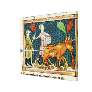 Fol.59r October: Ploughing Canvas Print