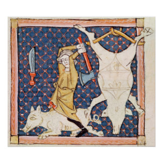 Fol.59v December: Killing Pigs Poster