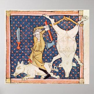Fol.59v December: Killing Pigs Poster