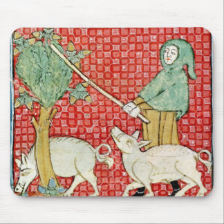 Fol.59v November: Gathering Acorns Mouse Mat