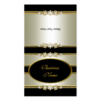 Fold Over Elegant Cream Gold Black Pack Of Standard Business Cards