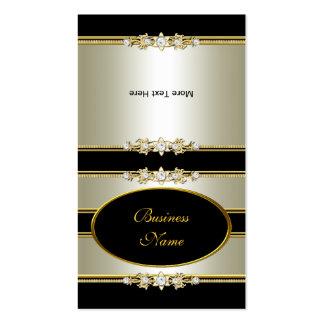 Fold Over Elegant Cream Gold Black Pack Of Standard Business Cards