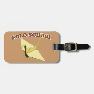 Fold School (Origami) Luggage Tag