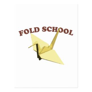 Fold School (Origami) Postcard