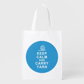 Foldable reusable grocery tote bag yarn tote bag reusable grocery bags