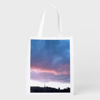 Foldaway Re-useable Bag Blue Cloud Sky