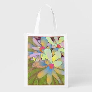 Foldaway Re-useable Bag Magnolia flower art