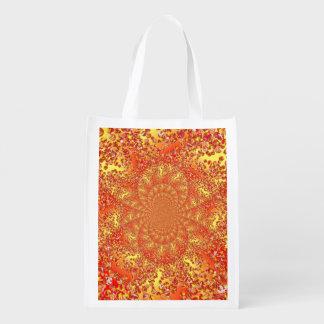Foldaway Re-useable Bag Marble Patch Digital Art