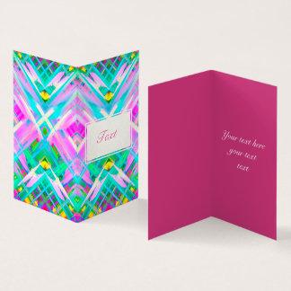 Folded Card Colorful digital art splashing G473