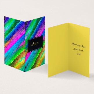 Folded Card Colorful digital art splashing G478