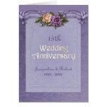 Folded Damask  Roses Purple 15th Anniversary