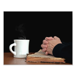 Folded Hands on Bible Photo Art