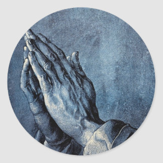 Folded Hands Prayer - Durer Classic Round Sticker