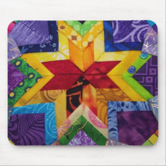 folded rainbow star Mousepad