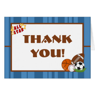 Folded Thank you Card All-Star Blue