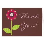 Folded Thank You Card Berry Garden Lady Bug Flower