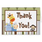 Folded Thank You Card Jungle Play