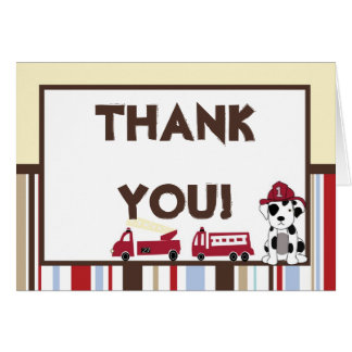 Folded Thank You Card Nojo Fire Engine