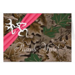 Folded Thank You Card Pink Browning Camo